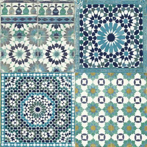 mosaic pattern wall tiles grandeco sapphira blue mosaic tile wallpaper blue mosaic