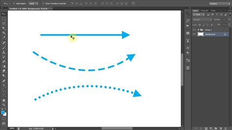 membuat garis outline di photoshop photoshop tips membuat panah garis putus dan garis titik