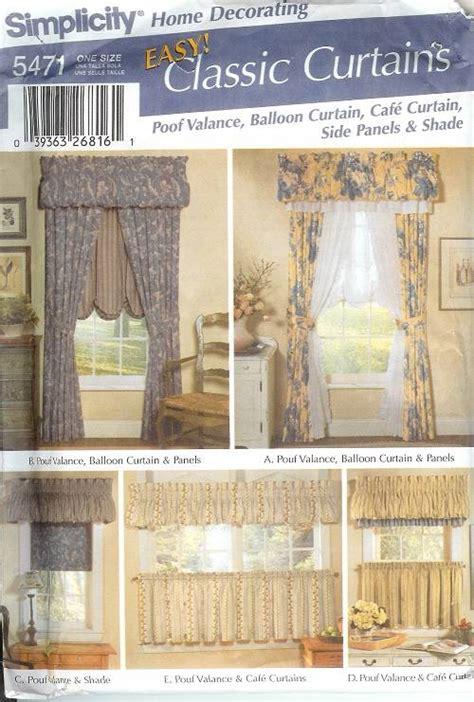 sewing patterns for curtains and drapes simplicity window treatment covering curtains drapes home