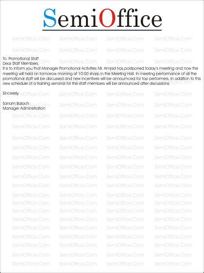 Apology Letter Postpone Event meeting postponed letter format letter format 2017