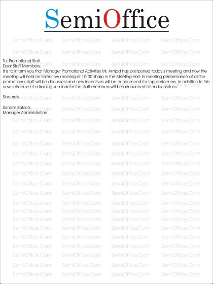 Apology Letter Postpone Meeting meeting postponed letter format letter format 2017