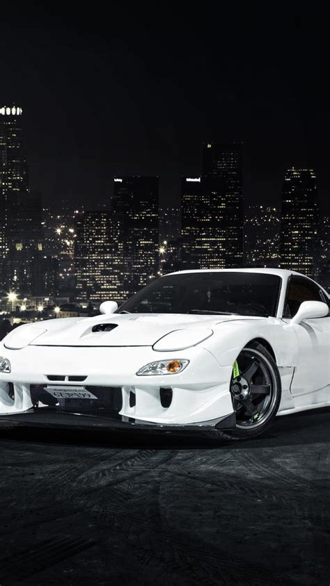 mazda rx7 wallpaper for iphone image 148 マツダrx 7白い車のフロントビュー iphoneの壁紙 750x1334 iphone 6 6s 壁紙