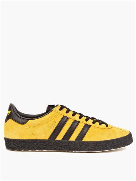 yellow adidas sneakers adidas originals yellow suede og jamaica sneakers in