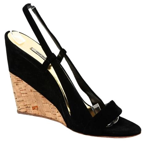 Vincci Sandal Wedges Suede 38 miu miu black suede leather slingback sandal 38 5 wedges