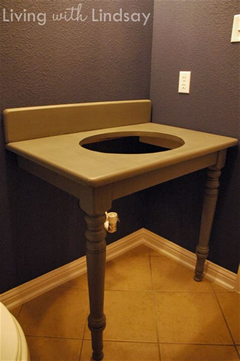 How To Build A Vanity Table by How To Build A Bathroom Vanity From An Dining Table