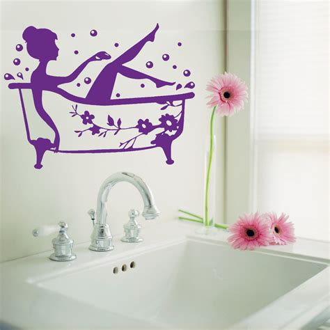 stickers for bathrooms bathroom art decal bath time removable vinyl wall sticker