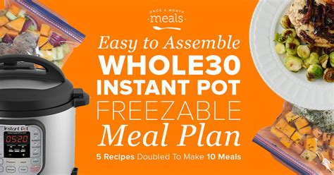 paleo instant pot freezer mini summer instant pot easy assembly paleo mini menu vol 1
