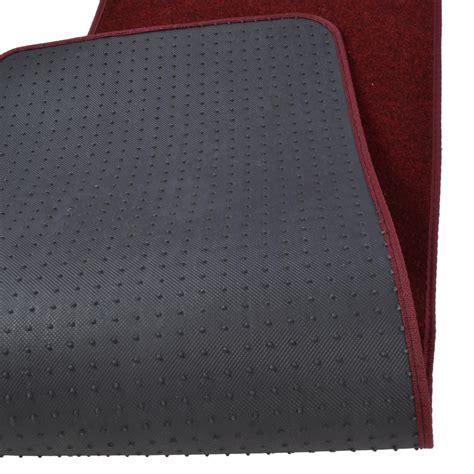 vans rug 3pc set burgundy heavy duty carpet suv car floor mats front rear rug ebay