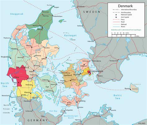 denmark on map europe map denmark