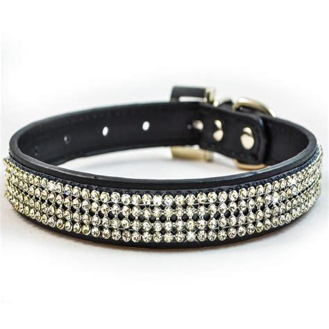 bling collars new black diamante collar rhinestone leather bling ebay