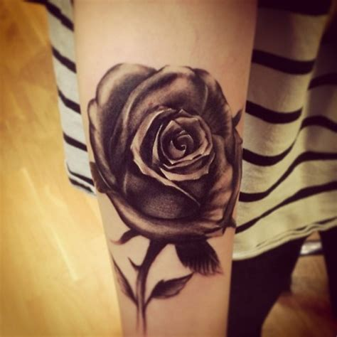 black rose sleeve tattoo beautiful black on sleeve