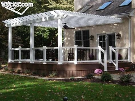 attached pergola plans free woodworking projects plans