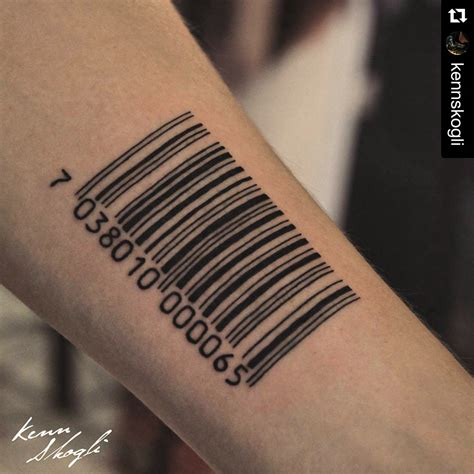 barcode tattoo designs barcode desires of the skin