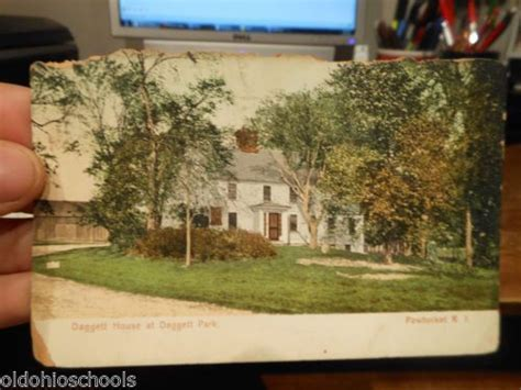 Rhode Island Property Records Vintage Antique Postcard Rhode Island Pawtucket