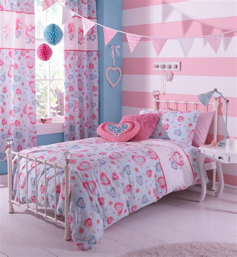 pretty bedding hearts flowers duvet set catherine lansfield polycotton