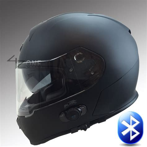 bluetooth motocross helmet t14b full face motorcycle bluetooth helmet matte black dot
