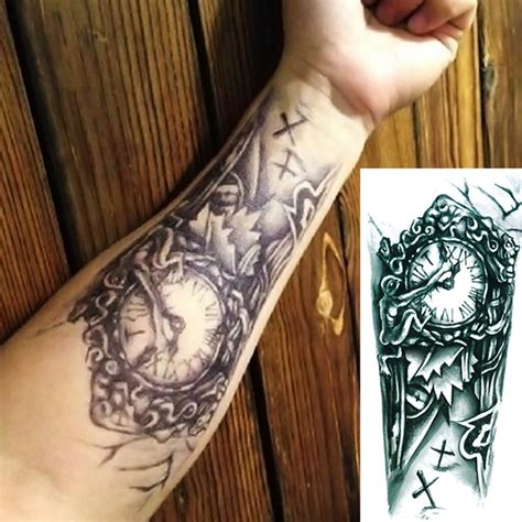 new temporary large 3d tattoo arm body art removable