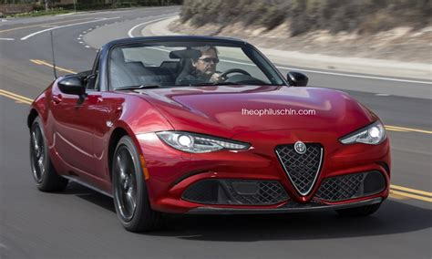 miata alfa romeo 2016 mazda mx 5 rendered as scion alfa romeo and tesla