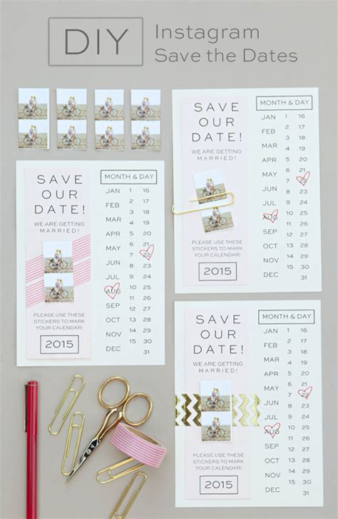 Cheap Calendar Save The Dates Make Your Own Instagram Save The Date Invitation