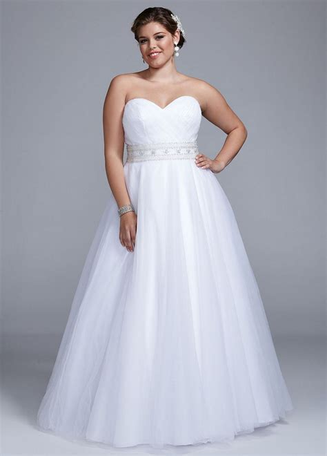 strapless tulle gown with beaded belt david s bridal strapless tulle gown wedding dress