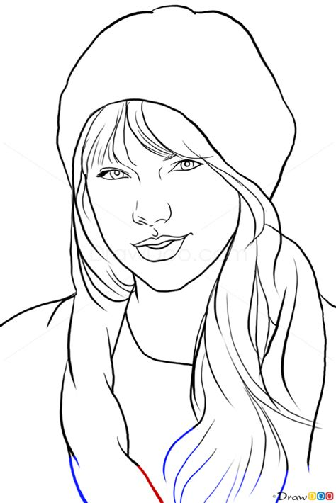 taylor swift coloring pages easy how to draw taylor swift famous singers