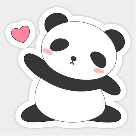 Sticker Panda kawaii panda t shirt pandas sticker