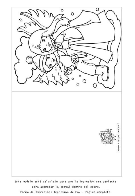 dibujos para tarjetas de navidad para ni241os tarjetas de navidad para colorear