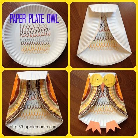 fall craft paper plate owl so autumn