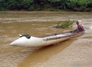 trash in boat fuel tank inventive farmers build vital river boats out of fuel