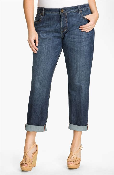 Kulot Jins kut from the kloth slim boyfriend in blue strong with medium blue wash lyst