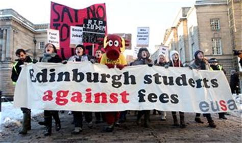 Edinburgh Mba Tuition Fees by Students Protest Against Rise In Tuition Fees Deadline News