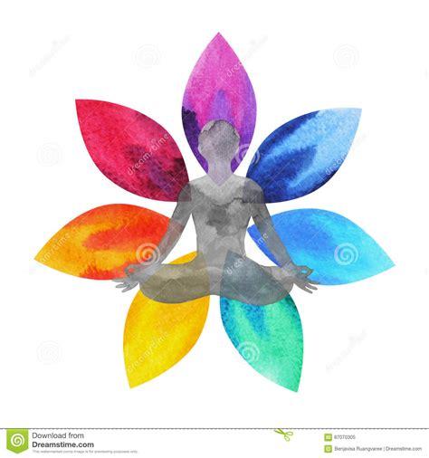 lotus flower chakra 7 color of chakra symbol lotus flower with human