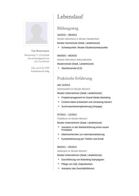 Moderner Lebenslauf Muster Moderner Lebenslauf F 252 R Die Bewerbung Mit Klassischen Schriftarten Zum Kostenlosen