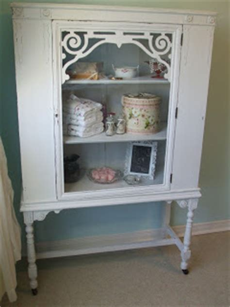 simply chic treasures shabby chic white china cabinet