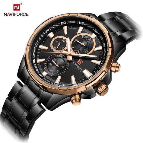 Naviforce Nf 9028 Leather nf 9089 naviforce high quality day date quartz stainless steel back with japan movement