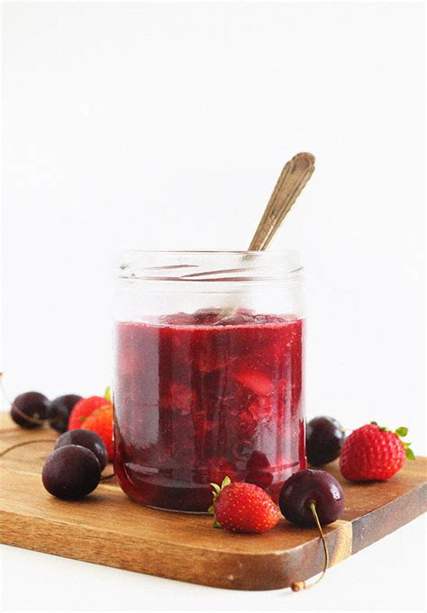4 fruit compote simple fruit compote minimalist baker recipes