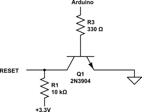 transistor restart pulldown how to use a transistor to pull a pin low electrical engineering stack exchange
