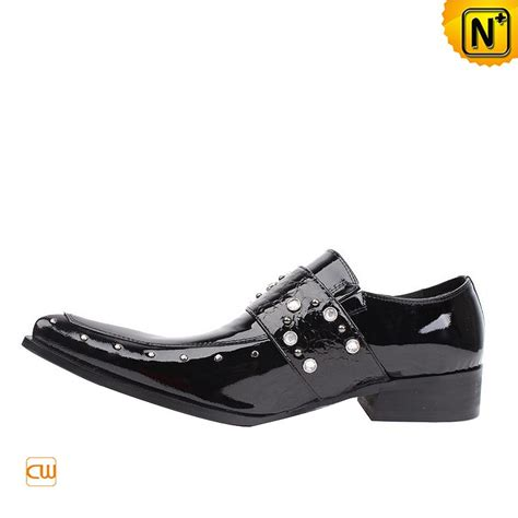 s fashion black patent leather dress shoes cw701107