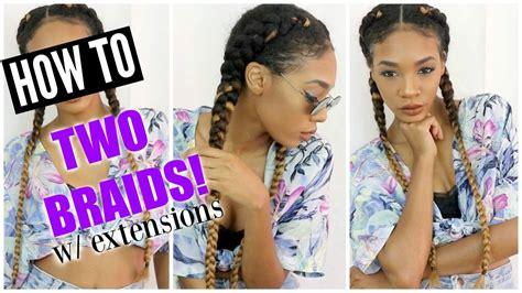 how to braid braid w extensions