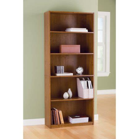 book shelves walmart mainstays 5 shelf bookcase oak walmart