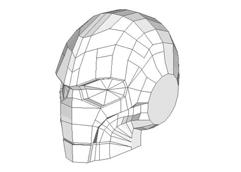 Papercraft Ironman Helmet - papercraftsquare new paper craft steunk style
