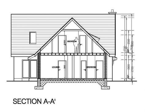 A Section by Detached Dormer Bungalow Malahide Drafter