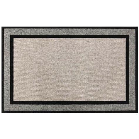 Gray Doormat by Trafficmaster Racetrack Gray 30 In X 47 In Rubber Door