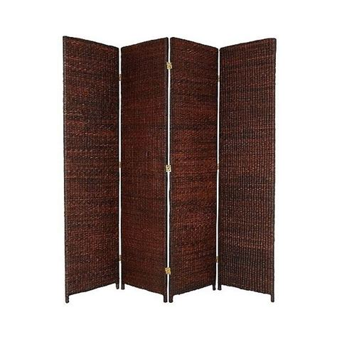 World Market Room Divider by Screen Ft Grass Woven Room Divider Brown