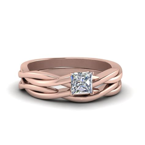 simple vine solitaire bridal ring set fascinating diamonds