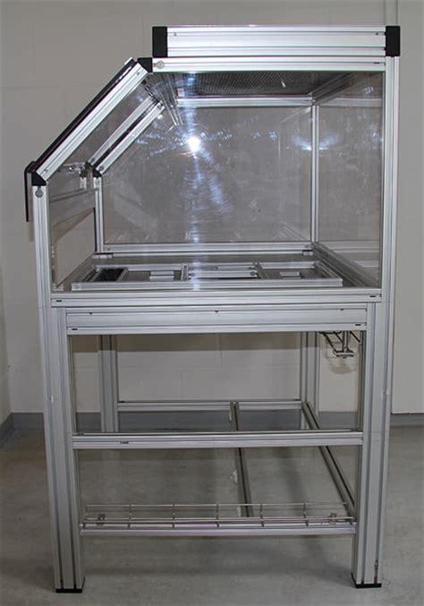 item gestell gestell geh 228 use aus item aluminium profil und plexiglas