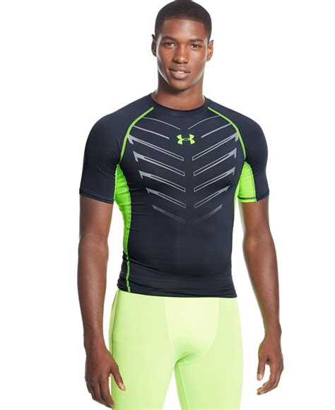 Kaost Shirt Armour 07 Bajutshirt armour exo heatgear compression t shirt in gray for gray green lyst