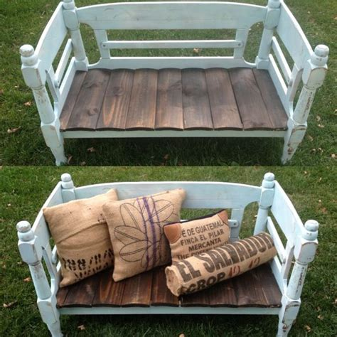 bed frame bench bed frame bench repurposed for the home pinterest