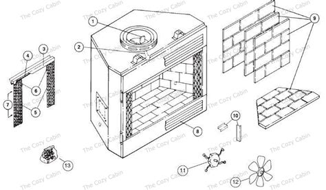 Parts Of A Wood Burning Fireplace by 42 Mbu Mbuc Series Mbu42 Mbuc42 The Cozy Cabin Stove