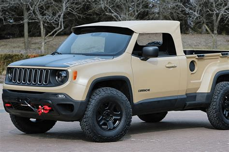 New Jeep Trucks New Jeep Commanche Truck Unveiled